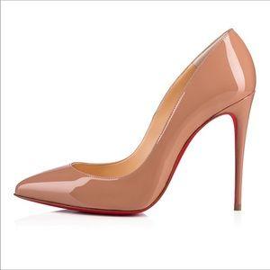 CHRISTIAN LOUBOUTIN || tan pigalle follies heels